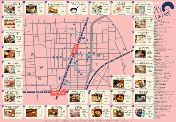 新丸子のお店つまみぐいまつりのマップ