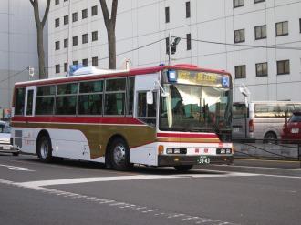 創立20周年記念塗装車両の東急バス(南武沿線道路にて)