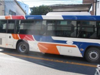 観光バス現行カラーの記念塗装車両