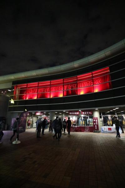 川崎ブレイブサンダースホームゲームが開催された「とどろきアリーナ」