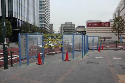武蔵小杉駅東口ロータリーの指定喫煙場所