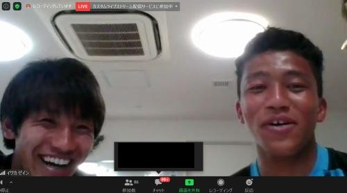 橘田健人選手とイサカゼイン選手