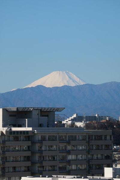 関東労災病院と富士山