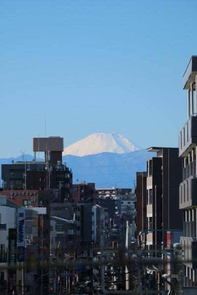 中原街道と富士山