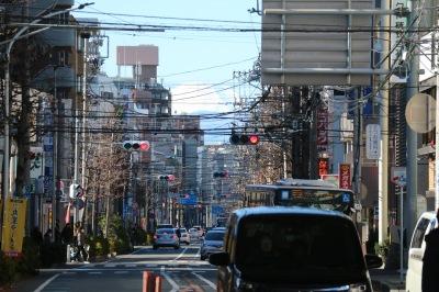 中原街道からの富士山
