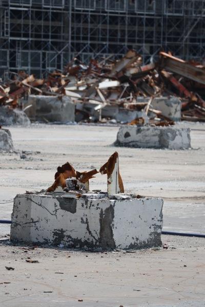 解体が進む三菱ふそう川崎工場第二敷地