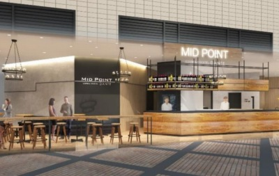 「MID POINT武蔵小杉」併設カフェのイメージパース