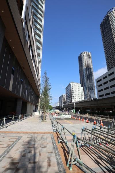 南武線沿いの都市計画道路(11月上旬開通予定)