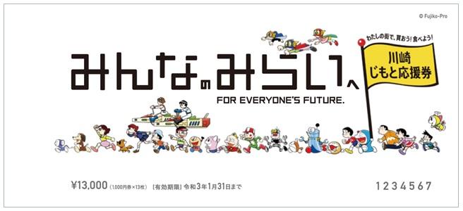 「川崎じもと応援券」の表紙
