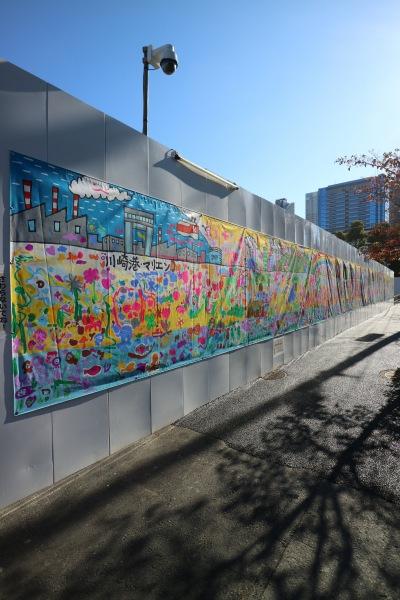 日本医科大学武蔵小杉病院建設地に掲示された絵画