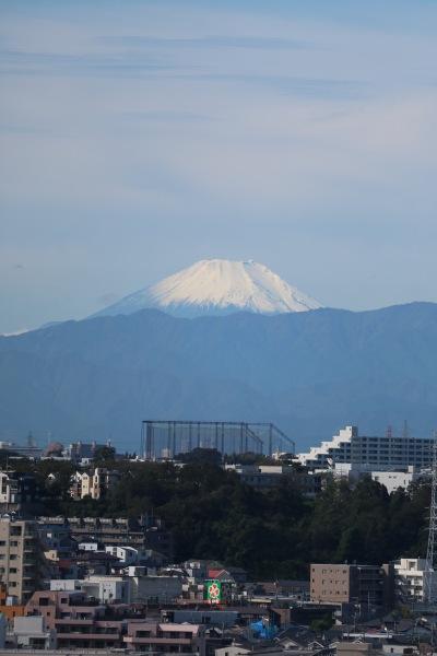 関東労災病院屋上ヘリポートからの富士山
