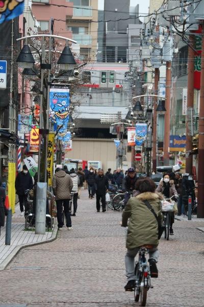 新丸子の商店街