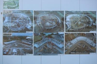 工事進捗の写真