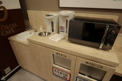電子レンジ・給湯器・手洗い・ごみ箱